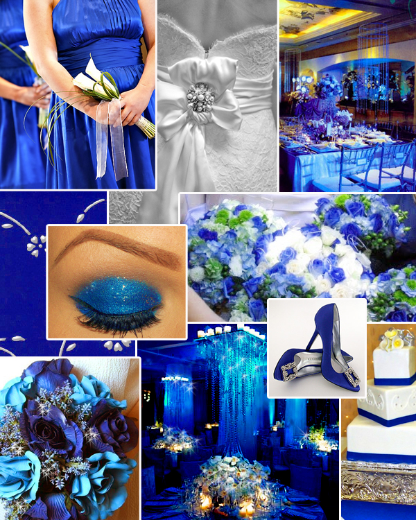 blue flower wedding bouquets