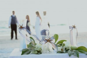 Ocean Blue Wedding Sand Ceremony