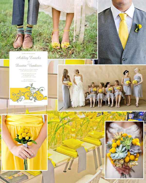 Stunning Yellow And Gray Wedding Ideas Photos - Styles & Ideas 2018 ...