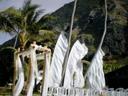 White Wedding Feather Banners For Your Wedding Ceremony