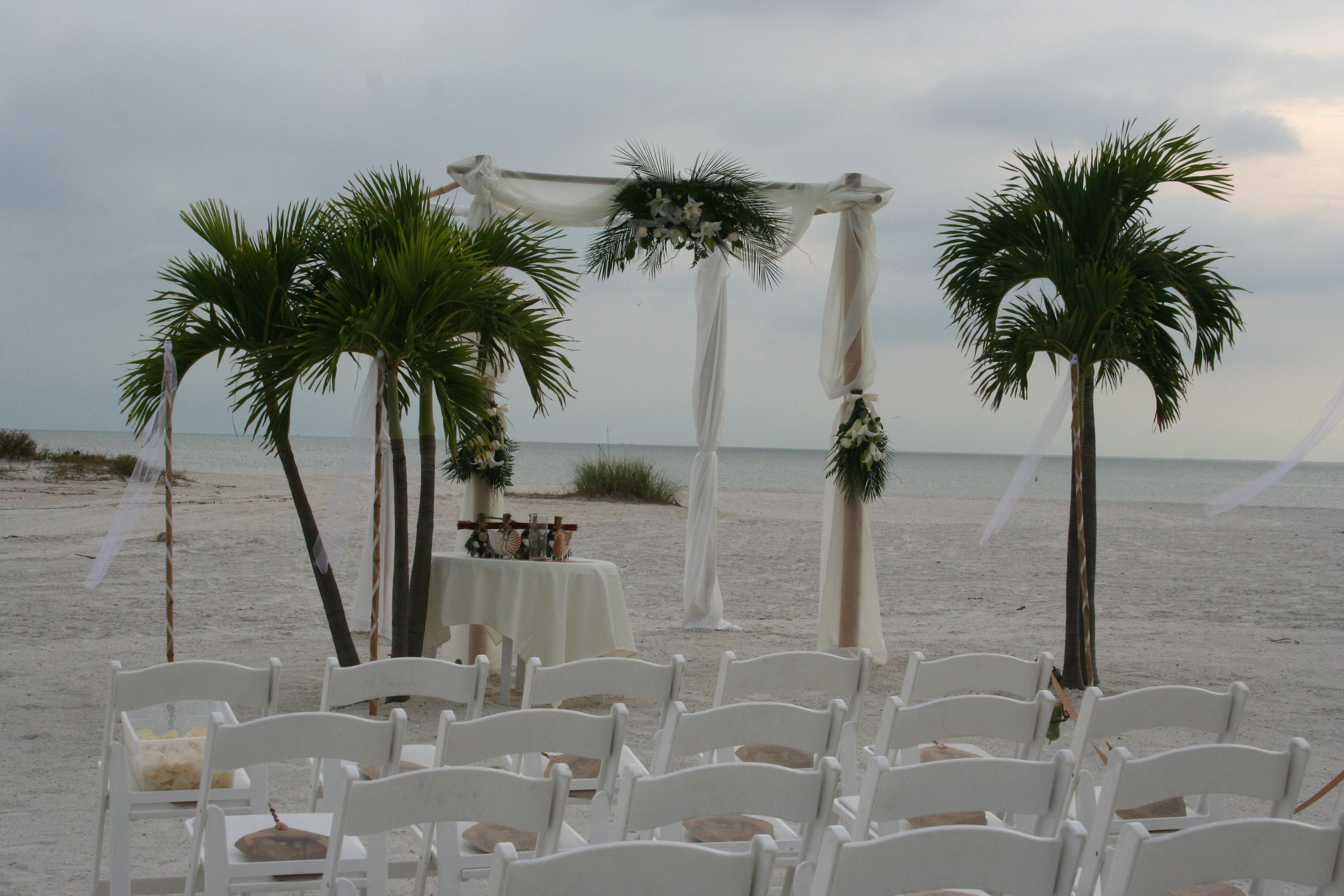Wedding Ceremony Bamboo Arch & Beach Weddings - Tampa Wedding Planner | Tampa Bay Event Designer ...
